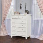 Brush White 6-Drawer Chest of Drawers – Cheyenne