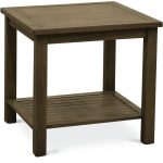 Brushed Birch Outdoor Aluminum End Table – Plank