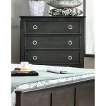 Brushed Black Contemporary Chest of Drawers – Classic