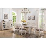 Brushed White 5-Piece Dining Set – Scottsdale