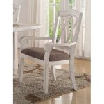 Brushed White Lattice Back Dining Arm Chair – Scottsdale Collection