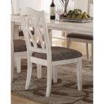 Brushed White Lattice Back Dining Chair – Scottsdale