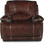 Burgundy Leather-Match Power Recliner