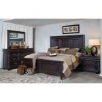 Cabernet Black Traditional 6 Piece King Bedroom Set – Meritage