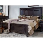Cabernet Black Traditional Queen Size Bed – Meritage