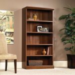 Camden County Planked Cherry 5-Shelf Bookcase