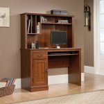 Camden County Planked Cherry Computer Desk with Hutch