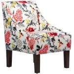Candid Moment Ebony Swoop Arm Chair