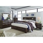 Cappuccino Brown Contemporary 6-Piece King Bedroom Set – Newland