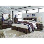 Cappuccino Brown Contemporary 6-Piece Queen Bedroom Set – Newland