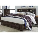 Cappuccino Brown Contemporary King Storage Bed – Newland