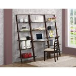 Cappuccino Brown Desk and Wall Bookcases – Arlington