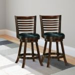 Cappuccino Stained Bar Height Barstool (Set of 2) – Woodgrove