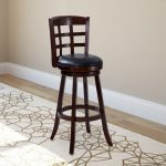 Cappuccino Stained Bar Height Barstool