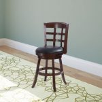 Cappuccino Stained Counter Height Barstool