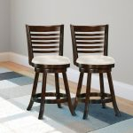 Cappuccino and White Ladder Back Counter Stool (Set of 2) – Woodgrove