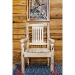 Captain's Chair w/ Ergonomic Wooden Seat – Montana