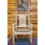 Captain's Chair w/ Upholstered Seat, Buckskin Pattern – Montana