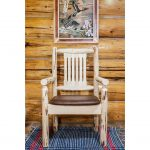 Captain's Chair w/ Upholstered Seat, Saddle Pattern – Montana