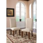 Carson Forge Upholstered Parsons Chair (Set of 2)