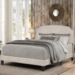Casual Classic Fog Gray Full Upholstered Bed – Desi