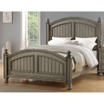 Casual Classic Gray King Size Bed – Barnwell