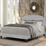 Casual Classic Gray Queen Upholstered Bed – Desi