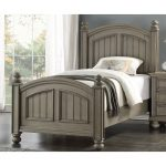 Casual Classic Gray Twin Bed – Barnwell
