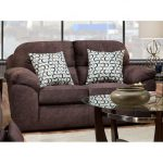 Casual Contemporary Cocoa Brown Loveseat – Imprint