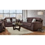 Casual Contemporary Cocoa Brown Sofa and Loveseat Set – Imprint