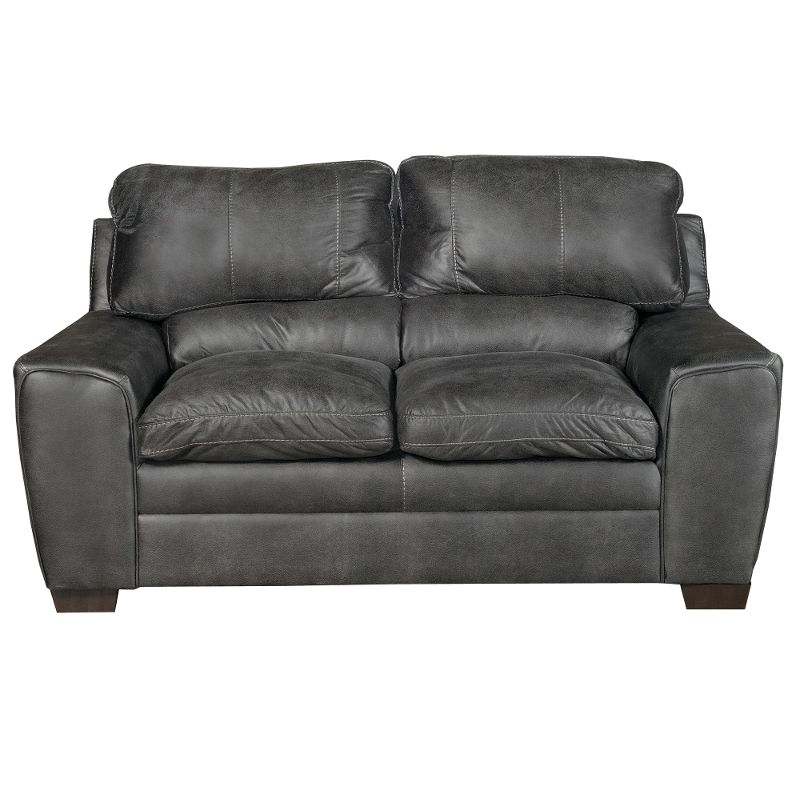 Wondrous Casual Contemporary Graphite Gray Loveseat Caruso Pabps2019 Chair Design Images Pabps2019Com