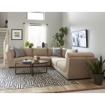Casual Contemporary Khaki 5 Piece Sectional – McEwan
