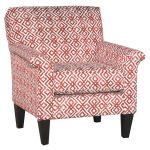 Casual Contemporary Red Diamond Pattern Accent Chair – Naomi