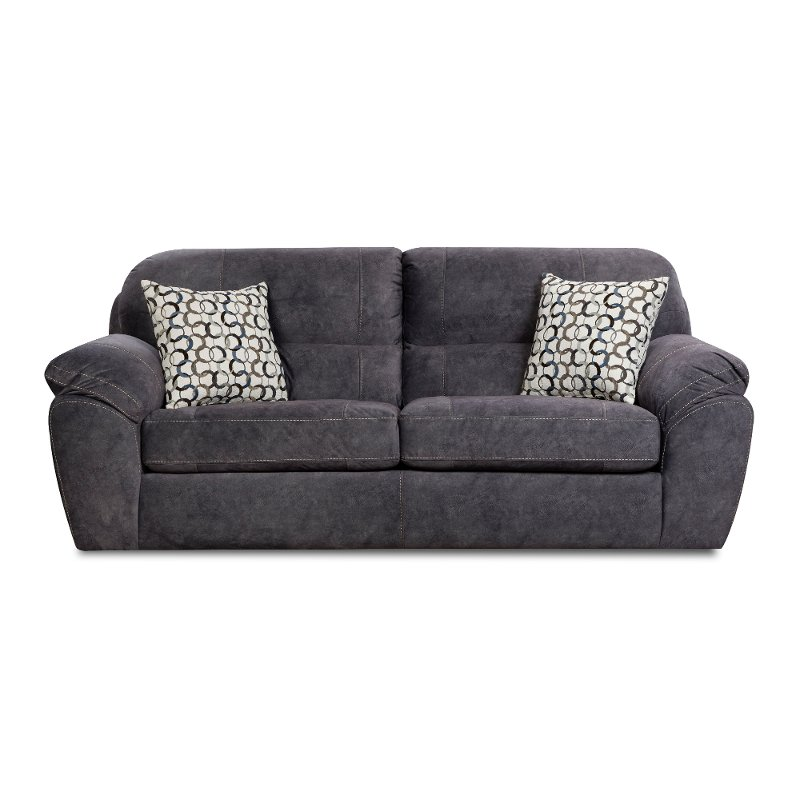 Wondrous Casual Contemporary Steel Blue Sofa Bed Imprint Alphanode Cool Chair Designs And Ideas Alphanodeonline
