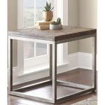 Casual Rustic Honey Brown End Table – Lorenza