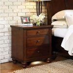 Casual Traditional Brown Cherry Nightstand – Cambridge