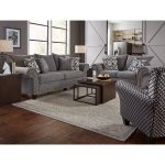 Casual Traditional Carbon Gray Sofa & Loveseat Set- Paradigm