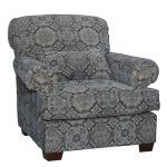Casual Traditional Midnight Blue Accent Chair – Southport