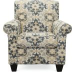 Casual Traditional Taupe & Gray Accent Chair – Heather