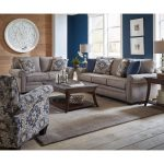 Casual Traditional Taupe Sofa & Loveseat Set – Heather