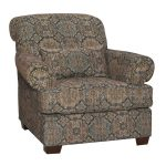 Casual Traditional Tobacco Accent Chair – Southport