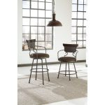 Casual Upholstered Counter Stool