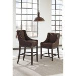 Casual Upholstered Counter Stools (Set of 2)