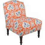 Cecilia Coral Camel Back Armless Chair