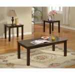 Ceramic Top 3 Piece Coffee Table Set