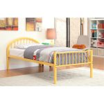 Chandler Orange Twin Metal Bed