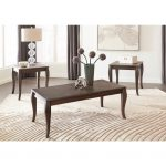 Charcoal Brown 3 Piece Coffee Table Set – Vintelli
