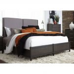 Charcoal Contemporary Upholstered Queen Size Bed – Tivoli