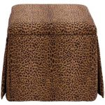 Cheetah Earth Skirted Storage Ottoman