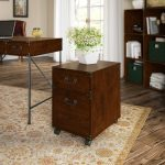Cherry 2-Drawer File Cabinet on Wheels – Ironworks